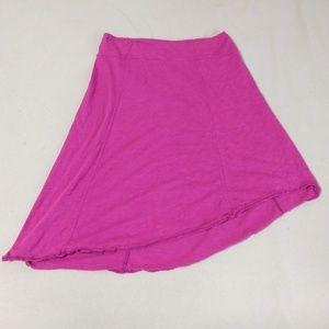 Prana pink assymetrical skirt - size XL